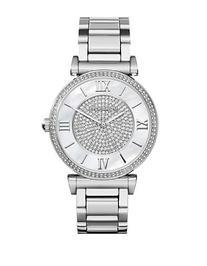 Michael Kors Ladies Caitlin Silver Tone Glitz Watch