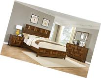 Roundhill Furniture Calais Solid Wood Construction Bedroom