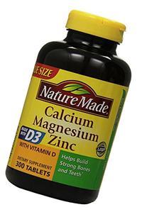 Nature Made Calcium Magnesium Zinc Tablets with Vitamin D,