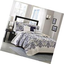 Madison Park Cali 6 Piece Quilted Coverlet Set, King/