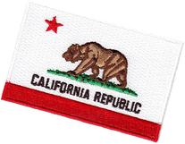 CALIFORNIA STATE FLAG/Iron On Embroidered Patch /Flag of
