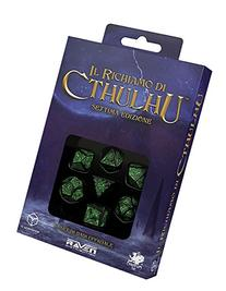 Call of Cthulhu Dice , Black/Green
