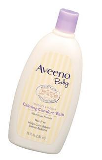 Aveeno Baby Calming Comfort Bath, Lavender & Vanilla, 18-
