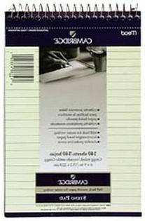 Mead Camb Steno Book 140-Sheets Stiff