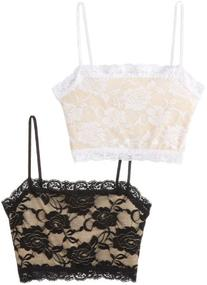 Pure Style Girlfriends Camiflage 2-Pack Lined Stretch Lace