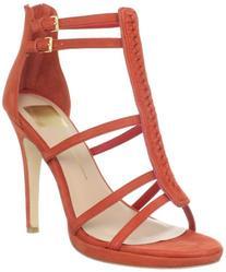 Dolce Vita Women's Camila T-Strap Sandal,Red Nubuck,9.5 M US