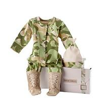 "Baby Aspen ""Big Dreamzzz"" Baby Camo 2-piece Layette Set in """