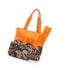 Natural Camo Quilted Diaper Bag Org