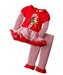 Rare Editions Baby Baby Girls' Candy Cane Applique Tutu