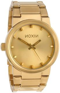 Nixon Men's A160-502 The Cannon Gold Stainless Steel Watch