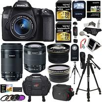 Canon EOS 70D 20.2 MP AF Full HD 1080p DSLR Camera Bundle