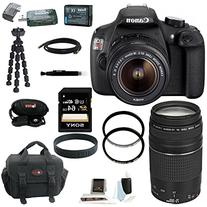 Canon EOS Rebel T5 DSLR Camera with 18-55mm and 75-300mm