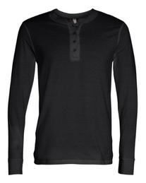 Canvas for Men's Long-Sleeve soft jersey Henley, NAVY, X-