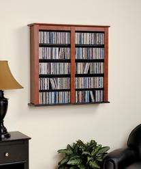 Prepac Double Wall Mounted  Storage Cabinet, Cherry and