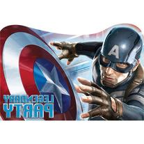Captain America Invitations - Birthday and Theme Party