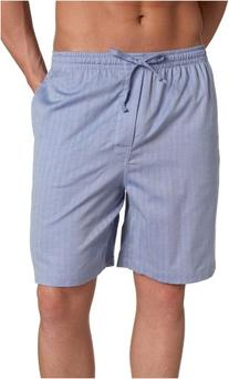 Nautica Men's Captains Herringbone Woven Sleep Short,Blue