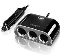 AVANTEK 3-Socket Car Cigarette Lighter Adapter Socket