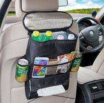Deler Insulated Auto Car Seat Back Organizer Bottle Drinks