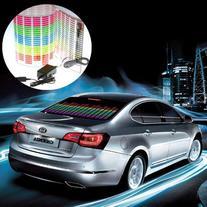 KevinDeal Car Sticker Music Rhythm LED Flash Light Lamp