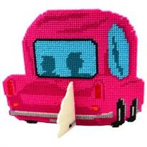 Car-Toon Framous Plastic Canvas Kit-3.5X2.8 Pink