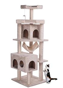 Carb-certified Merax Cat Tree Furniture Steps with Condo/