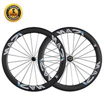 ICAN 56mm Carbon Road Bike Wheelset Clincher Tubeless Ready