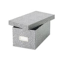 Oxford® Reinforced Board Card File with Lift-Off Lid Holds
