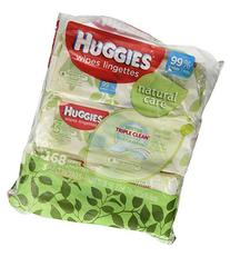 Huggies Natural Care Fragrance Free Soft Pack Wipes , 168 CT