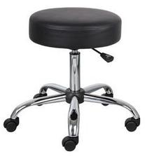 Height Adjustable Doctor's Stool with Dual Wheel Color: