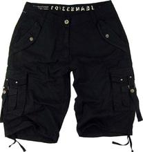 Mens Black Cargo Shorts Military #A8s Size:38