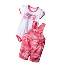 Carhartt Kids - Camo Ripstop Shortall Set   Girl's Active