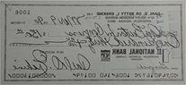 Carl Erskine Hand Signed Personal Check Los Angeles Dodgers