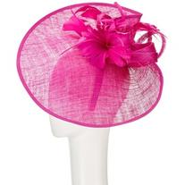 John Lewis Carla Pinched Disc and Flower Occasion Hat,