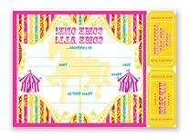 Carousel Carnival Invitations Multi - 10 Invitations + 10