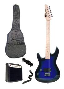 39 Inch BLUE Electric Guitar and Amp Pack & Carrying Case &