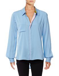 Diane Von Furstenberg Carter Silk-Blend Blouse-BLUE-0
