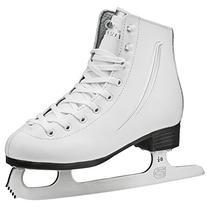 Lake Placid Cascade Girls Figure Ice Skate, White, Size