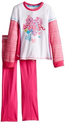 ASICS Little Girls' 2 Piece Cascade Set, Pink Glow, 4