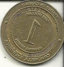 $1 trumps casino gaming token coin coachella california