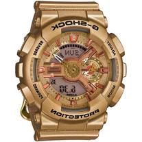 Ladies' Casio G-Shock S Series Gold-Tone Face Watch