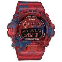 Ladies' Casio G-Shock S Series Red Floral Band Watch