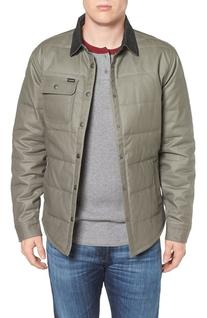Men's Brixton Cass Quilted Jacket, Size X-Large - Grey