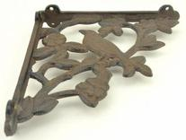 "7.5"" Cast Iron Decorative Bracket Shelf Holder"