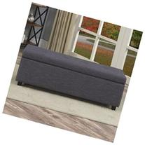 Castleford Wood Storage Entryway Bench, Slate Gray