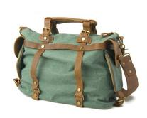 Kattee Casual Canvas Messenger Shoulder Bag with Real