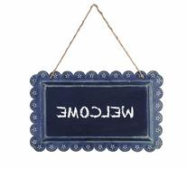 Creative Co-op Casual Country Tin Hanging Chalkboard, 15.25-