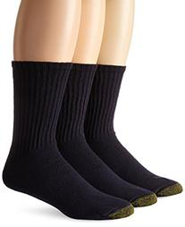 Gold Toe Men's Casual Crew 3 Pack Socks, Navy, One Size