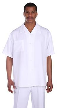 Milano Moda Casual Solid Walking Suit 2954-White-XXXXX-Large
