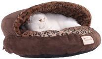 Armarkat Cat Bed, Mocha and Leopard