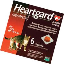 Cat Heartgard Chewables 6pk Red 1-5 lbs by MERIAL